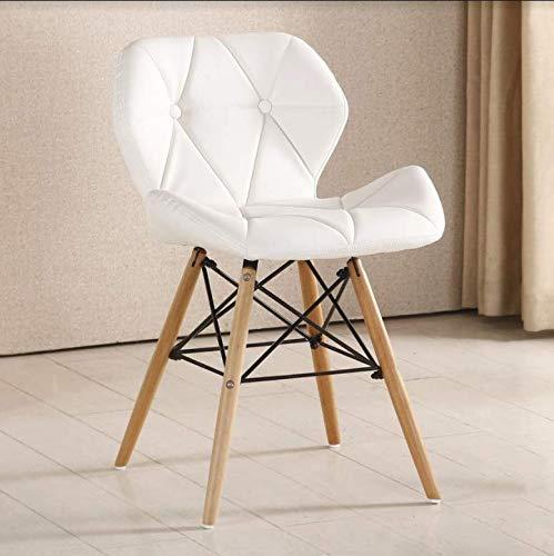 Life Interiors - Sedia da pranzo Cecilia   Sedia da pranzo moderna   sedia stile retrò   (bianco, 1)