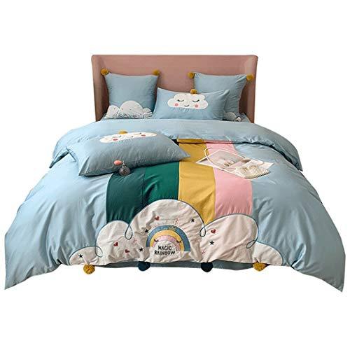 DYXYH Bettabdeckung Set Kind Junge Mädchen Bettbezug Erwachsener Kind Bettwäsche und Kissenbezüge Bettwäsche Bettwäsche Set (Size : 1.8M)