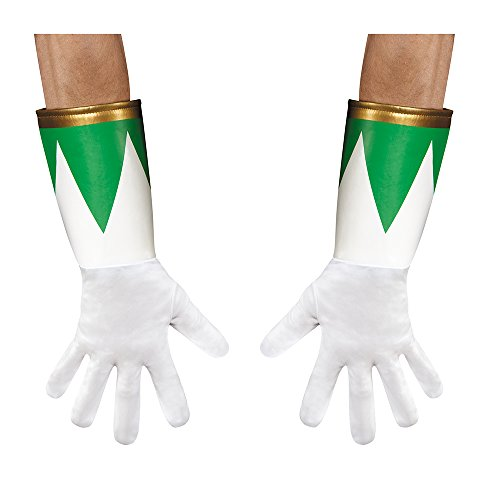 Disguise Men's Green Ranger Adult Costume Gloves, Green, One Size