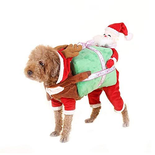 Oncpcare - Disfraz Creativo de Perro de poliéster, Abrigo Divertido para Perro, Regalo de Papá Noel, Ropa para...