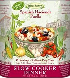 Amazon Com Spanish Hacienda Paella Slow Cooker Gluten Free Kitchen Dining