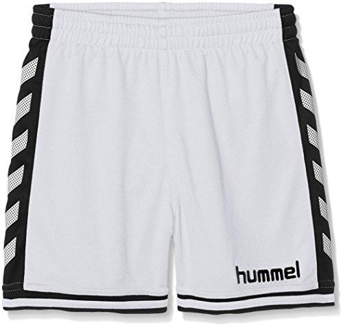 Hummel Jungen Shorts SIRIUS, White/Black, Gr.10-12 (Herstellergröße:140 - 152)