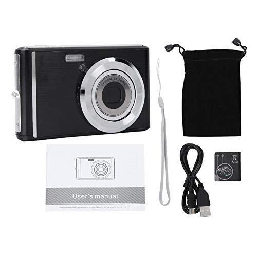 DAUERHAFT Mini cámara Digital portátil con Cable USB, para Viajes, para Video conmemorativo Familiar(Black)