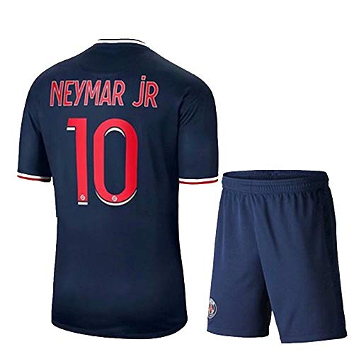 Olesa, maglietta sportiva da uomo e gioventù, 2020-21 # 1 K.navas # 7 Mbappe # 10 Neymar jr maglia da calcio abbigliamento da allenamento uomo e bambini t-shirt 20/21 (casa, grande)