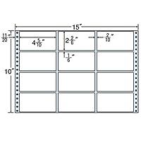 東洋印刷 タックフォームラベル 15インチ ×10インチ 12面付(1ケース500折) MT15E