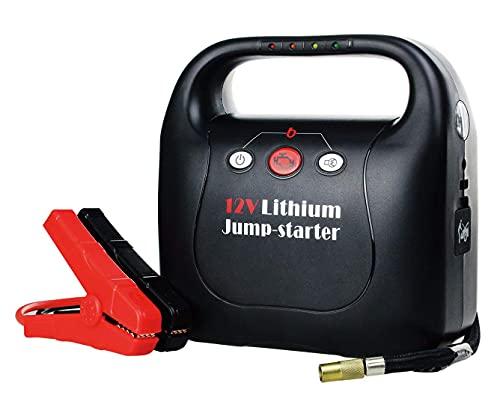 700A Peak 15600mAh Cargador de batería de emergencia portátil para automóvil (motor diésel de 6.0L a gasolina o 5.0L) Paquete de energía con puente inteligente, compresor de aire, puerto USB, arranca
