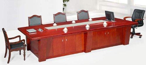 Jet-Line Büromöbel Besprechungstisch XXL Madison Konferenz Tisch 3,8 m Konferenztisch mit Schränken