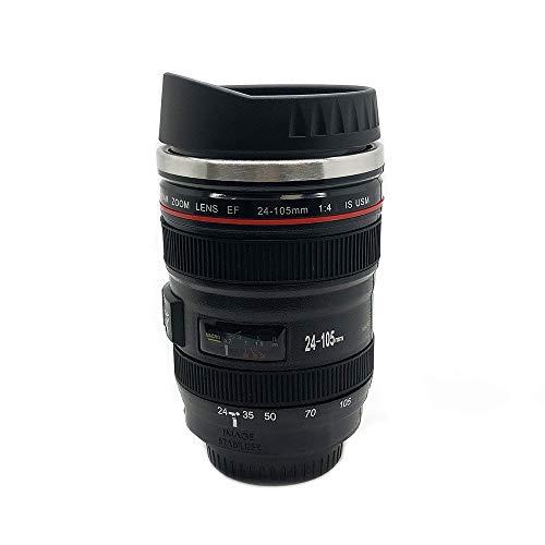 Stainless Steel Camera Lens Travel Coffee Mug |...