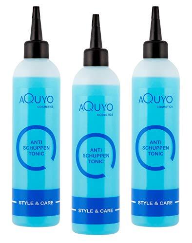Anti Schuppen Tonic Kopfhaut Pflege bei trockener und juckender Haut (3er Pack - 3x 200ml) | Haartonikum gegen Schuppen und Juckreiz | Haarwasser mit Menthol, Panthenol & Allantoin