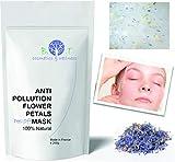 Mascarilla Antipolución Translúcida de alginatos Peel-Off 200g 100% Natural (Petalos de Flores)