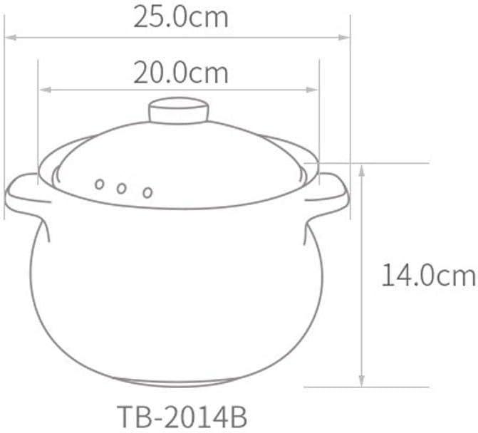 CJTMY Casserole, antiadhésif Couvercle Stone Soup Pot avec Couvercle en Verre trempé Anti-gauchissement Non Toxique Peut être lavé dans Le Lave-Vaisselle (Color : Red) Orange