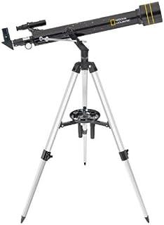 National Geographic Teleskop 60/700 AZ Refraktor mit azimutalem Aluminium Stativ zum Einstieg in die Astronmie inklusive umfangreichem Zubehör