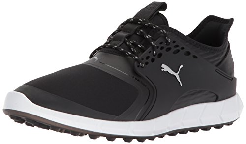 Puma Golf Men's Ignite Pwrsport Golf Shoe, Black/Silver, 12 Medium US