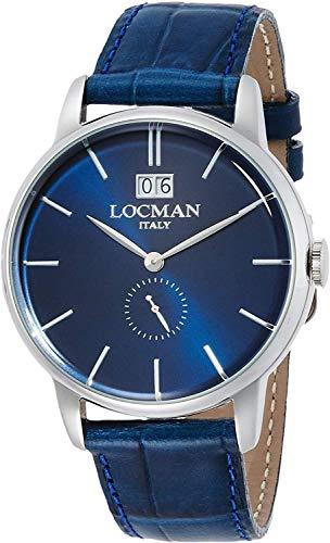 ロックマン LOCMAN 腕時計 0252V02-00BLNKPB 1960 DATE レザーベルト [並行輸入品]