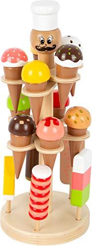 Eisständer mit Spieleis aus Holz