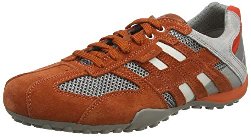 Geox Herren UOMO SNAKE E, Rot (Brick/Lt Grey C6114), 42 EU