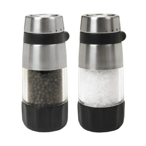 Salt and Pepper Grinder Set, Stainless Steel