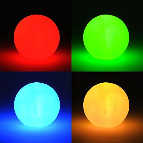 levandeo LED Kugel Farbwechsel - Kleine LED Lampe inklusiv Batterien - Leuchte Effektkugel Leuchtkugel Deko Farbwechsler Stimmungskugel