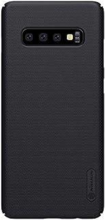 حافظة نيلكين سوبر فروستد لهاتف محمول سامسونج جالاكسي اس +10 / اس 10 بلس، حافظة صلبة وحماية للهاتف المحمول - سوداء اللون