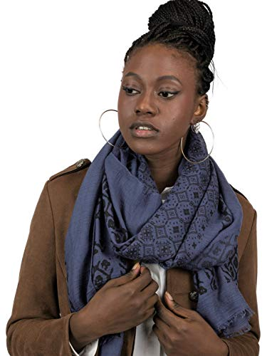 Mer's Style - Fular Bufanda de Primavera para Mujer, Azul