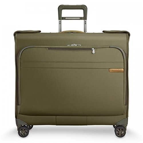 Briggs & Riley Baseline-Softside Carry-On Wardrobe Spinner Luggage, Olive