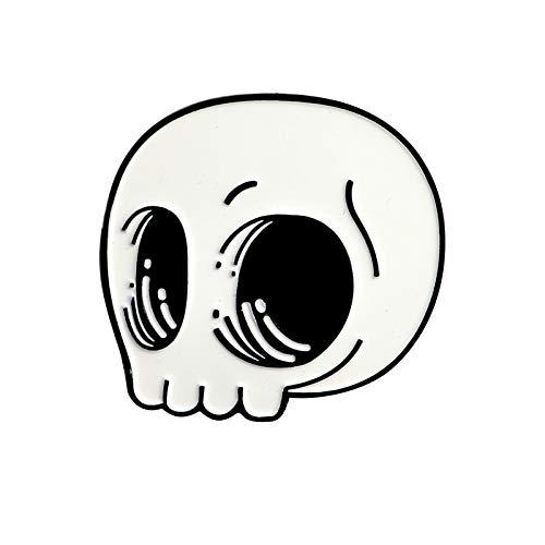 TaxpyBath Mats Broches de Vampiro Xio Mara Insignias Pin de Esqueleto Pin de Calavera Joyería de Halloween Denim Punk Jean Colección de Pines Negros para Regalo de Amigo