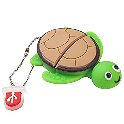 BorlterClamp 32GB USB Flash Drive Cute Cartoon Sea Turtle Model Memory Stick, Gift for Students and Children