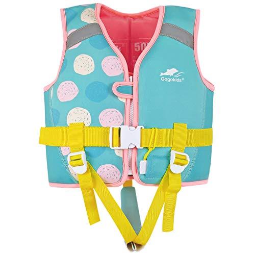 Gogokids Chaleco de Natación para Niños Niñas - Traje de Flotación Ropa de Baño Flotante Aprendizaje de Natación