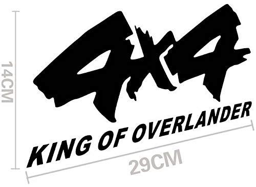 Rey de Overlander4x4 Hummer Off-Road Coche Pegatinas (Color : 1)