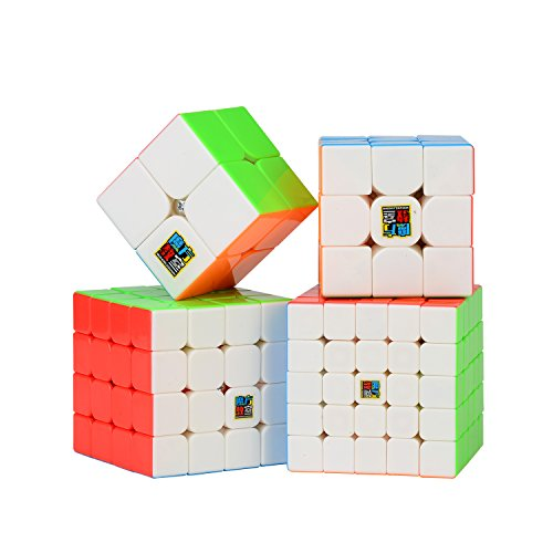 ROXENDA Speed Würfel Set, Zauberwürfel Set 2x2x2 3x3x3 Skewb Pyramid Smooth Puzzle Würfel (2x2 3x3 4x4 5x5)
