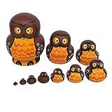 Healifty Eulen russische Verschachtelungspuppen 10 Schichten Holz Matroschka Spielzeug Tier Stapeln Puppe Sammlung Spielzeug Wohnkultur Geburtstagsgeschenk -