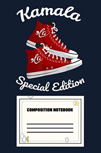 Comma La Funny Kamala Harris Vintage Sneakers U5 Notebook: 120 Wide Lined Pages - 6