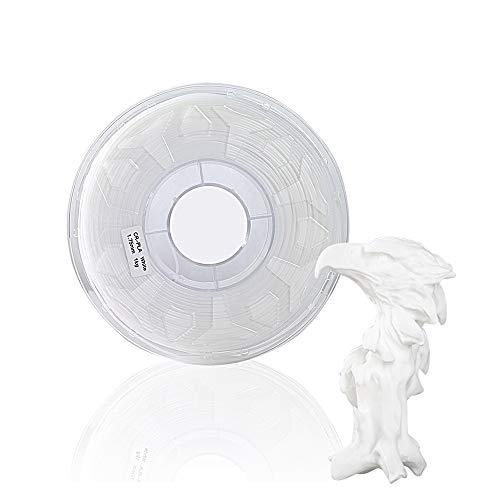 massager 3d printer filament 3D 1.75mm white filament 1kg (2.2lb), 3D printer filament has no tangles, no clogging, no drawing PLA filament 1.75mm (Color : White)