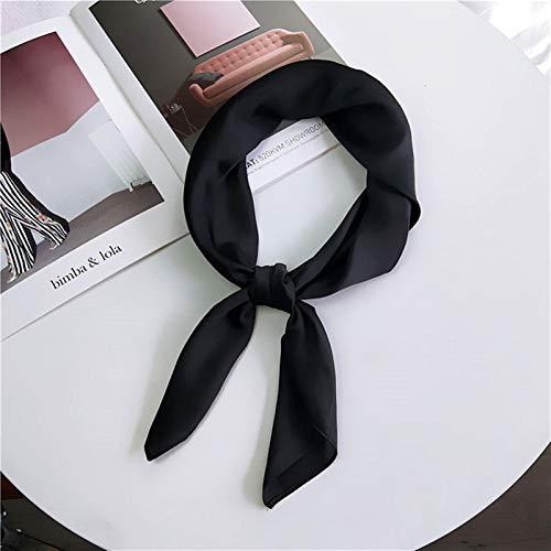 Pañolillo sólido mujer cabeza bufanda para bufandas de cuello de pelo hembra 70 cm * 70 cm Bandanas Lady Bufandas
