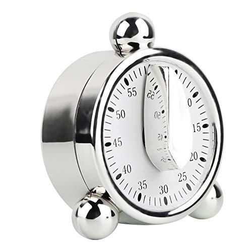 Temporizador de cocina, BuyWeek Multifunción 60 minutos Temporizador mecánico Recordatorios de cocina Reloj despertador para cocina Cocina Plata