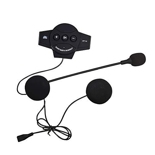 BT10 Bluetooth4.0 CSR4.1 Reducción de Ruido Casco de Motocicleta Auriculares Recargable Llamada de Voz Música Manos Libres Teléfono Inalámbrico