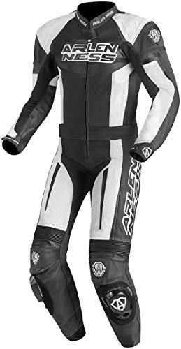 Arlen Ness Monza 2-Teiler Motorrad Lederkombi 50 Schwarz/Weiß