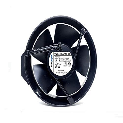for 115V 172mm ebmpapst W2E143-AA15-01 Fan - 24/26W 3uF 17251 All Metal Fan