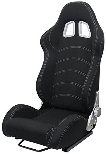 Carparts-Online 19582 Sportsitz Schalensitz Tenzo-R Stoff schwarz mit Laufschienen