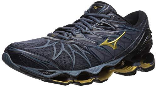Mizuno Herren Running Shoe Wave Prophecy 7, Laufschuh, Schwarz/Ombre Blau, 41 EU