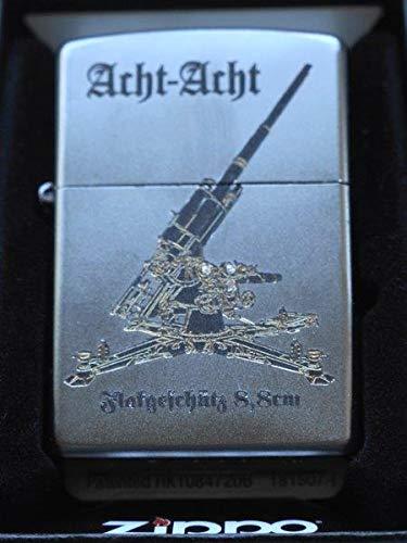 Zippo Sturmfeuerzeug Flak 8/8 Militaria-Diamantgravur-Satin Finish, Silber, S