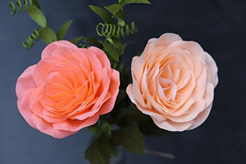 Englische Rose Giardina aus Krepppapier/haltbare Kletterrose/gefüllte Rose/Rose des Jahres 2019 handgefertigt/Kunstblume/Blumenstrauß