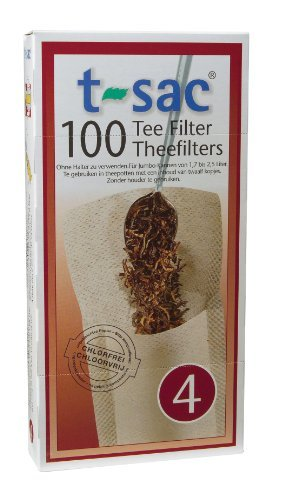 T-Sac UP-Grade to Expedited Mail Tea Filter Bags, Disposable Tea Infuser, Number 4-Size, 6 to 12-Cup Capacity, Set of 200