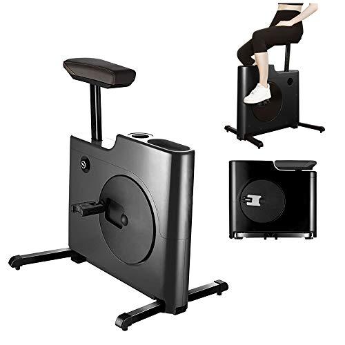 Cyclette pieghevole bicicletta magnetron con comodo cuscino del sedile, trasmissione silenziosa a cinghia supporto per iPad calorie bruciate Allenamento cardio Allenamento fitness Gym Mini bicicletta