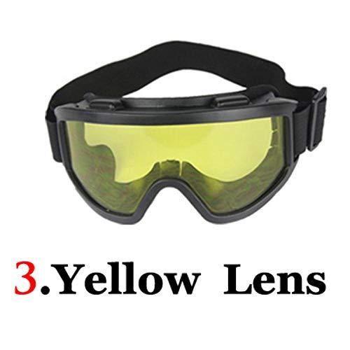 QWERTYU Occhiali da motocross antivento per motocross, motocross, occhiali da sci