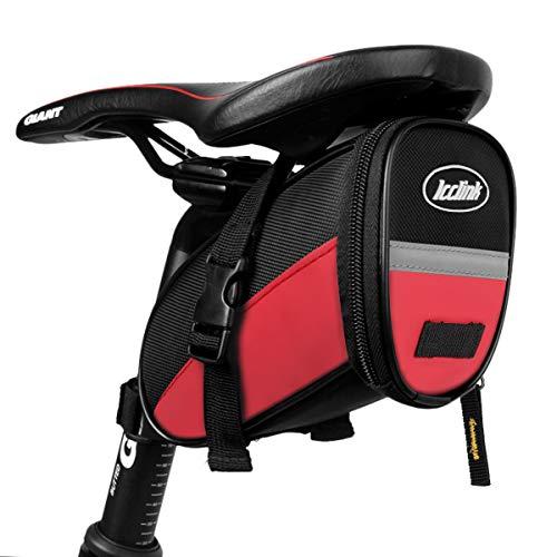 Fahrrad Rahmentaschen Wasserdicht Farhrradlenkertasche Oberrohrtasche Handytasche Handyhalterung Handyhalter mit Fingerabdrucksensor/Sonnenblende/Regenschutz für Handy GPS Navi bis 6,5 Zoll (Rot)