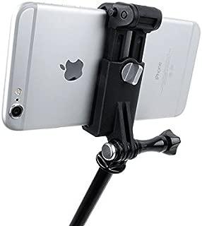 GoProマウント用 スマホホルダー スマートフォン iPhone android ブランドシール付き
