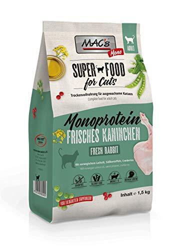 Mac's Katzenfutter getreidefrei Adult Monoprotein Kaninchen, 1.5 kg
