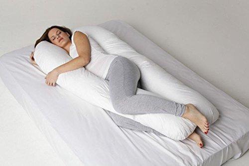 Adam Home Exclusif Full Body Forme Maternité Grossesse Soutien en Gros C-U en Forme Oreiller Case Taille 12FT (Oreiller avec étui)