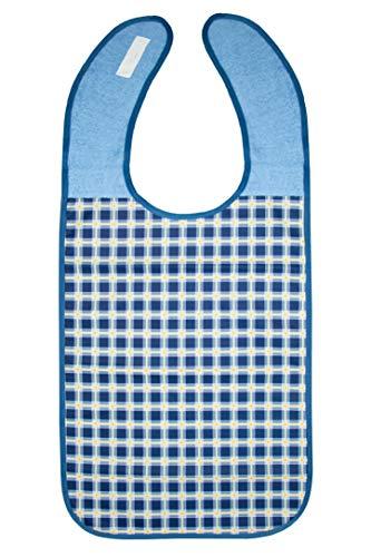 ZOLLNER Lätzchen für Erwachsene 45x90 cm, blau, wasserdicht, waschbar